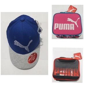 Puma lunch box and hat_ NWT